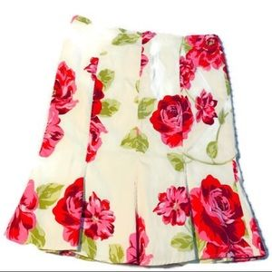 Rubber Ducky Floral Fit n flare skirt
